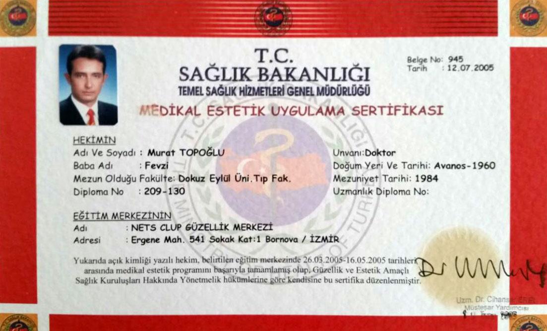 Dr. Murat Topoglu - Diploma 21