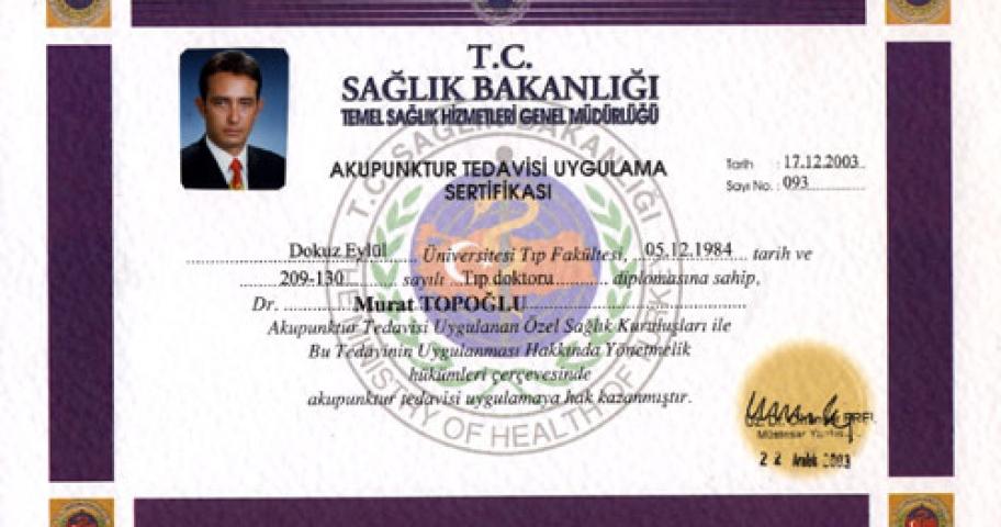 Dr. Murat Topoglu - Diploma 22