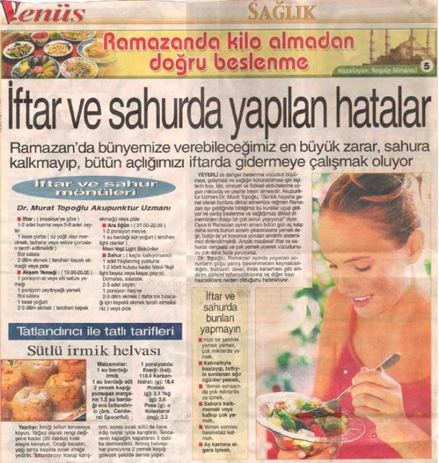 Dr. Murat TOPOĞLU Gazete ve Dergi Haberleri - 04