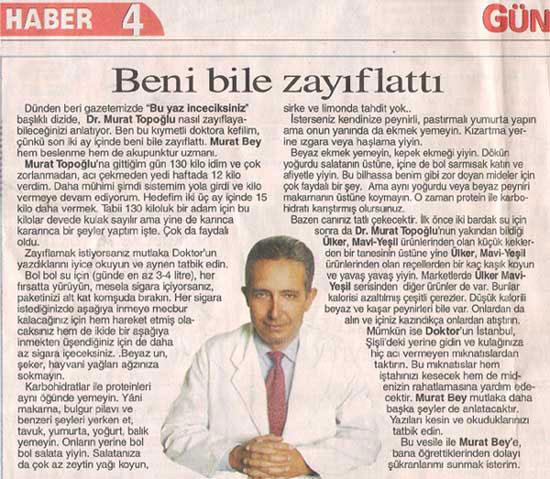 Dr. Murat TOPOĞLU Gazete ve Dergi Haberleri - 25