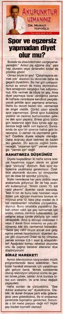 Dr. Murat TOPOĞLU Gazete ve Dergi Haberleri - 27
