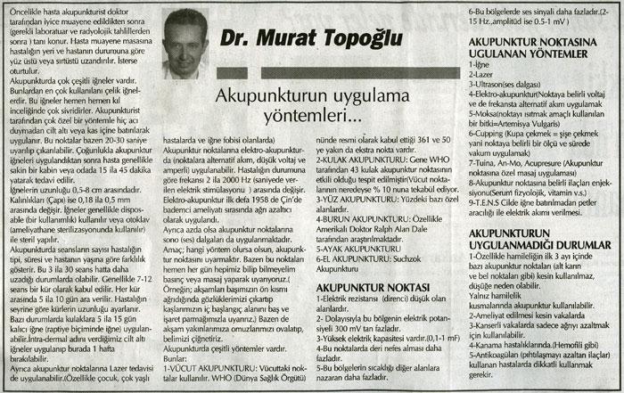 Dr. Murat TOPOĞLU Gazete ve Dergi Haberleri - 43