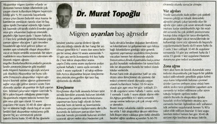 Dr. Murat TOPOĞLU Gazete ve Dergi Haberleri - 46