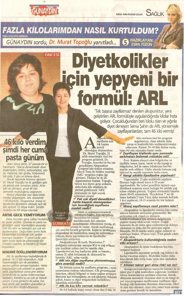 Dr. Murat TOPOĞLU Gazete ve Dergi Haberleri - 52